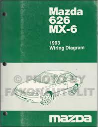 1993 mazda 626 and mx 6 wiring diagram manual original