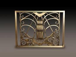 art deco bordering on art nouveau fireplace screen kr u2026 flickr