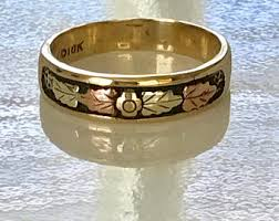 Black Hills Gold Wedding Rings by Black Hills Gold Ring Etsy