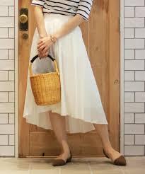 le coeur blanc ランダムタックフィッシュテールスカート 500101887 ルクールブラン