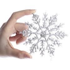 silver glitter snowflake ornaments ornaments