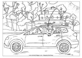 summer holidays colouring pages kids