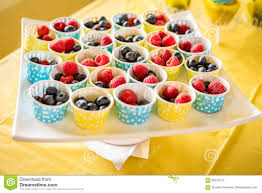 fruit cups filled at a baby shower event stock photo image 88372214