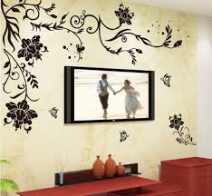 home design wall pictures wholesale black flower vine butterfly vinyl wall stickers home decor