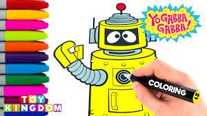 yo gabba gabba coloring page activity for children plex coloring