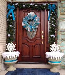 Christmas Decorations Outdoor Snowflakes by Beautiful Front Door Home Christmas Design Inspiration Featuring