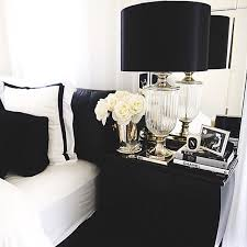 Black And White Bedding With White Roses Bedding Lamp Headstand - White and black bedroom designs