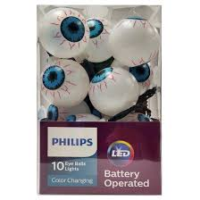 philips halloween led color changing eye balls battery operated