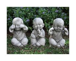 wise monks set this charming trio of monk children is