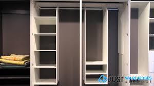 Hinged Wardrobe Doors Jws Hinge Door Suspended Melamine Wardrobe System Youtube