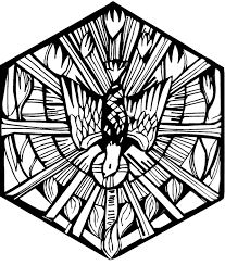 clipart holy spirit dove flame