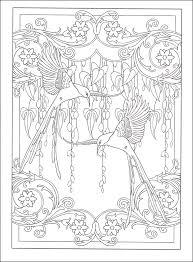 coloring book pages designs art nouveau animal designs coloring book 031696 details rainbow