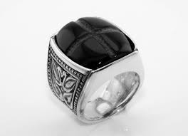 silver rings for men silver ring for men with onyx handmade