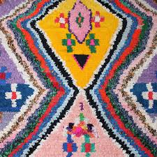 boucherouite rug colourful moroccan carpet made of recycled