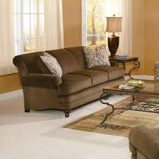 Sofa King Furniture by King Hickory Amanda Casual Rolled Arm Stationary Sofa Boulevard