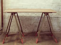 reclaimed timber trestle table by natasha dickins handkrafted