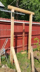 the urbane farmer kiwi trellis installed