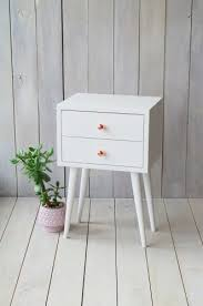 White Bedside Table Oak Bedside Table With Drawer No 02 Ep Aliusydecor