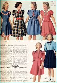 1940 u0027s fashion sears catalogue girls dresses sewing vintage