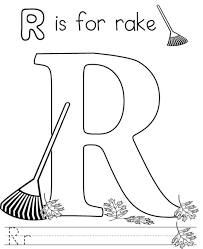 rake free alphabet coloring pages at page glum me