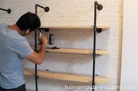 Homemade Wooden Shelves by Homemade Modern Ep47 Pipe Shelves
