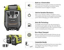 shop at the home depot and save on fuel ryobi 2 200 watt green gasoline powered digital inverter generator