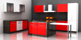 model kitchen set modern model kitchen set minimalis cantik warna merah putih finishing cat