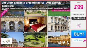 uk mini breaks for 2 nights with breakfast just 99 per