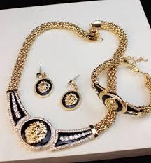bracelet earring jewelry necklace images Jewels gold jewelry lion necklace bracelets earrings big jpg