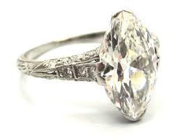 marquise cut engagement rings and unique edwardian era 2 43 carat antique marquise cut