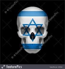 Flag Of Israel Israeli Flag Skull Illustration