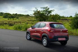 kwid renault 2015 renault kwid test drive review red rxt model rear angle carblogindia