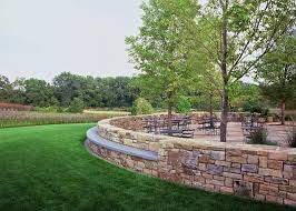 Chicago Patio Design by Love This Circular Patio Design And Outer Seat Wall Chicago