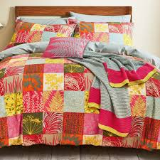 clarissa hulse mini patchwork quilt cover set spice jarrold