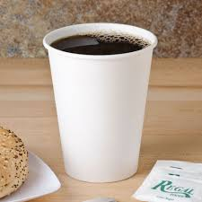 Coffee Cup dart 412wn 2050 12 oz white poly paper cup 1000