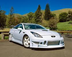 custom 2000 toyota celica 2000 toyota celica custom sky blue 3 4 front view on pavement by
