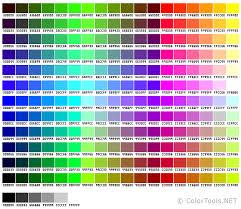 color codes websafe color chart colortools net