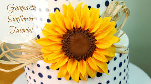 how to make a gumpaste sunflower youtube
