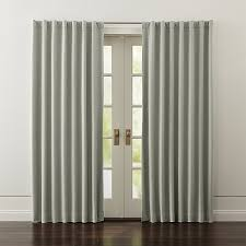 Blackout Curtains Wallace Grey Blackout Curtains Crate And Barrel