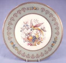 aynsley bird and fruit basket vintage bone china dinner plate