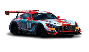 mercedes racing car customer racing total 24 hours of spa mercedes amg with a large