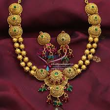 antique gold necklace images Tnl0404 temple jewellery indian traditional necklace earrings jpg