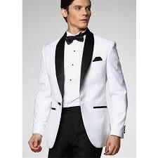 white wedding suits for men black groomsmen tuxedosjacket pants