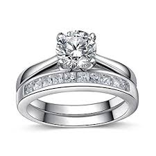 engagement wedding rings images 925 sterling silver brilliant diamond cut crystals accent love jpg