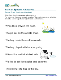 2nd grade circle adjective 3