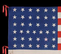 Dancing Flags Jeff Bridgman Antique Flags And Painted Furniture 37 Stars On A