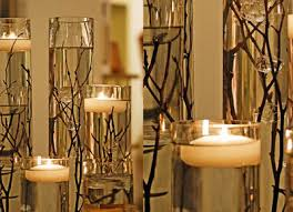 floating candle centerpieces instead of twigs you can sub