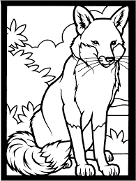 fox 3 coloring page