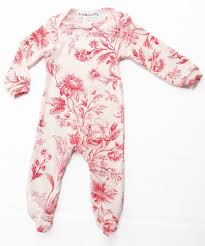 thingamajiggies toile footed pajamas for babies sz 9 mos only