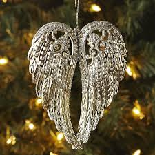 wings ornament gold pier 1 imports winter holidays